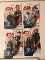 LOT Hasbro Star Wars REY LUKE R2-D2 LEIA Action Figure 3.75 Disney force link