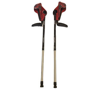 SmartCRUTCH Performance Racer Series Red and Grey Forearm Crutch Adult Large