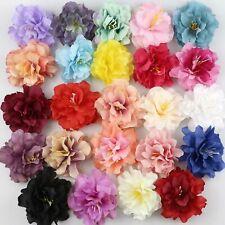 "100X 3.1"" Artificial Silk Peony Flowers Heads Buds Petals Bouquets Craft Decor"
