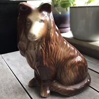 Vintage MCS Brazil Handcrafted Collectibles Collie Dog Figurine 6""