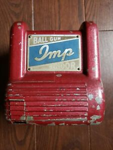 1930'S IMP 3 REEL CIGARETTE GUMBALL TRADE STIMULTOR PENNY COIN OP MACHINE NICE