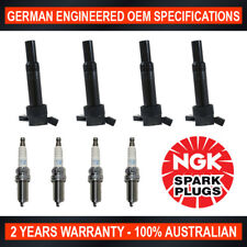 4x Genuine NGK Iridium Spark Plugs & 4x Ignition Coils for Hyundai i30 GD i40 VF