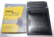 2 Fidelity Deluxe 8x10`  Filmholder Planfilmkassette, OVP