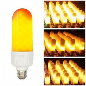 LAMPADA LED EFFETTO FIAMMA FLAME LAMPADINA E27 EMULAZIONE FUOCO TREMOLANTE