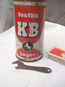 Tooths   Bottle opener  &   metal  beer Can  Horse trade mark