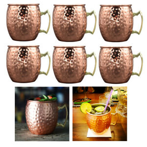 6pcs Moscow Mule Cocktail Mug/Cup Bar Vodka Cocktails Beer Cups Barware Gift