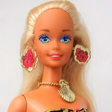 Vintage 1994 Tropical Splash Barbie Doll Blonde Blue eyes Revised