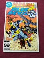 BLUE DEVIL ANNUAL 1 VF/VF+ DC 1985 EARLY JUSTICE LEAGUE DARK APPEARANCE HIGH