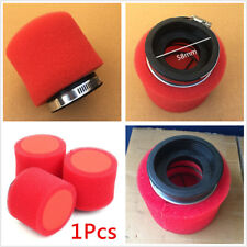 1x 58mm Washable Foam Air Filter Cleaner Straight For Motorcycle Racing Bike ATV