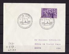 ec62/ Enveloppe   expo Europe timbres France  Strasbourg      1962