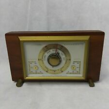 Airguide Barometer Thermometer Humidity Mid Century Moden Dial Dashboard Wooden
