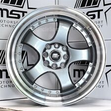 17x9 4x100/114.3 +20 MST MT07 GUN METAL 5 SPOKES MACHINE LIP WITH RIVET WHEELS