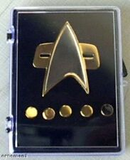 STAR TREK - DS9 + Voyager Captain Communicator Pin Set - new