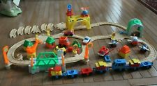 FISHER PRICE FLIP TRACK RAIL & ROAD TRAIN SET 1995 2 in 1 + AIRPORT - 75 PIECES