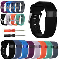 Replacement Band Strap Wristband Tool Kit For Fitbit Charge HR Activity S/L New