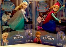 "Disney Frozen Elsa & Anna Dolls SET OF TWO Ice Skating 12"" New in box"