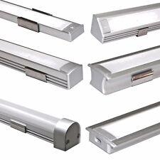LED Aluminium Alu Profil Leiste Profilleiste Schiene für Streifen 1 Meter Neu