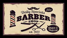 Barber Shop Daily Specials Bar Runner Counter Mat Barbers Salon Hairdressing 339