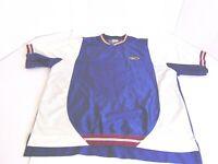 Nike Men's V Neck Short Sleeve Pullover Blue White Maroon Mustard Size XL