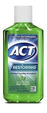 4 Pack Act Restoring Anticavity Fluoride Mouthwash Mint Burst No Alcohol 3 Oz Ea