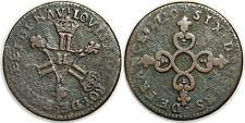 "LOUIS XIV SIX DENIERS DITS ""DARDENNE""  1710 H G.85 LA ROCHELLE"