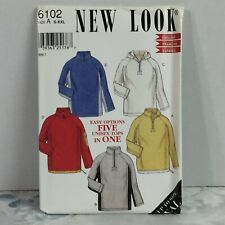New Look 6102 5 options jacket top vintage UNCUT sewing Pattern size S-XXL