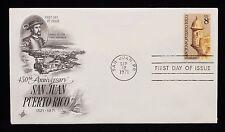 1971 FDC 450th Anniversary San Juan Puerto Rico 8c Stamp #1437