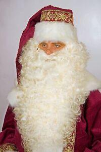 hochwertiger weißblonder Nikolausbart extralang Weihnachtsmann Weihnachten