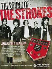 The Strokes Visual Sound Pedals First Impressions Of Earth 2006 Promo Poster Ad