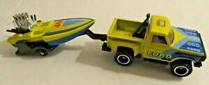 1983 Matchbox Lesney Ford 460 Flareside Pickup Truck Seaside Trailer TP-118