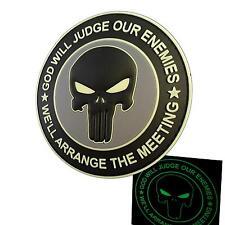 God Will Judge Our Enemies Punisher PVC DEVGRU Glow Dark Tag Patch Velcro BRAND