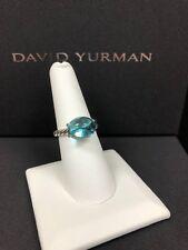 David Yurman Oval Blue Topaz Ring