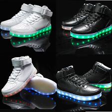 Women Men LED Light Up Trainer Lace Up Adult Luminous Casual Shoes Sneakers New