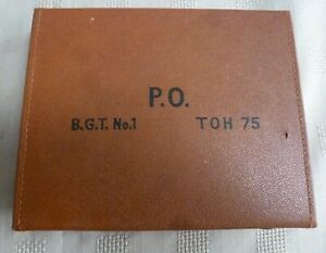 GPO STROWGER SET OF GAUGES TENTION IN CASE GOOD CONDITION