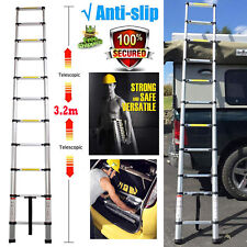 New! Adjustable Ladder Retractable Household Portable Safe Doorways Folding 3.2m