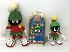 Vintage Marvin The Martian Collectibles Plush Watch Figure Warner Brothers Lot