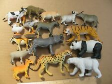 Lot of Plastic Animal Figures Mammals Lions Cheetah Made in China