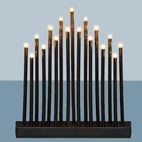 Premier Christmas 29cm Battery Candlebridge 17 LED's - Black