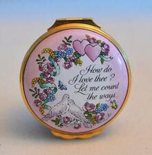 "Halcyon Days Enamels ""How Do I Love Thee"" St. Valentine's Day Trinket Box"