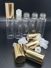 Roll on glass bottles 5ml, gold cap.
