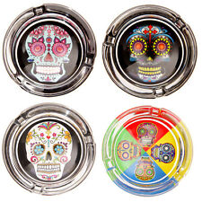 SUGAR CANDY SKULL ASHTRAY DAY OF THE DEAD / Mexican Novelty Gift Idea Ornament