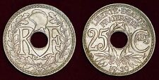 FRANCE 25 centimes 1930 granular metal aspect granuleux du métal