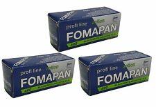 3x Fomapan 400 Black & White 120 Roll Film