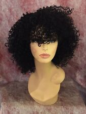 100% Human Hair Blend Curly Deep Part Lace Front Wig