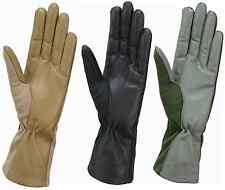 Cold Weather Fleece Liner Nomex Flight Flyers Gloves Black Green & Tan ALL SIZES