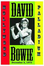 New listing 1970's Rock: David Bowie at Hollywood Palladium Concert Poster 1973 12x18