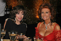 Joan collins & Sophia loren Quality Glossy Photo print A4 or A5 size