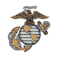 "Marine Corps USMC Semper Fi Sticker 4"" Decal"
