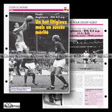 #016.02 ANGLETERRE UK-RFA Photo GORDON BANKS 1966 WORLD CUP Fiche Football