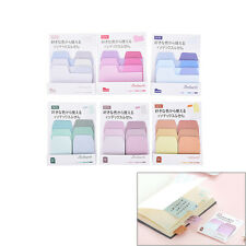 6 Colors Notebook Note Index Paper Card Sticker Note Memo for School office AL